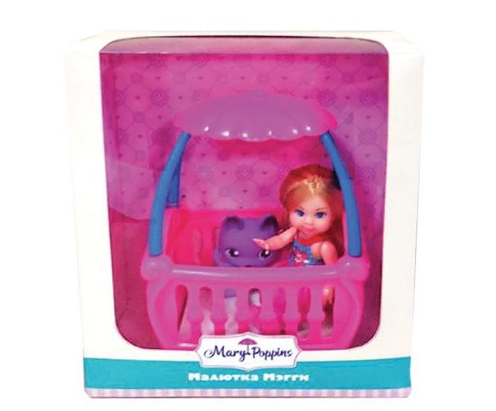 Куклы и одежда для кукол Mary Poppins Кукла Мегги с кроваткой 9 см