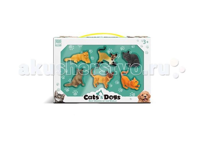 Viva Terra Коллекция фигурок Cats&Dogs Кошки 6 шт.