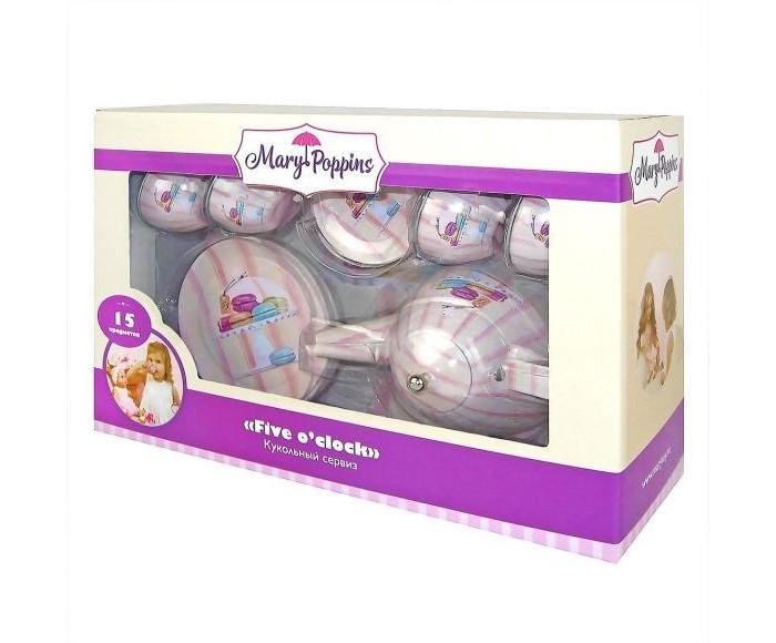 Ролевые игры Mary Poppins Набор металлической посуды Макарон (15 предметов) набор посуды mary poppins корона 13 предметов фарфоровая 453013