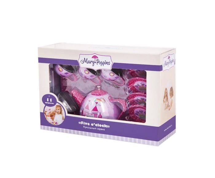 Ролевые игры Mary Poppins Набор металлической посуды Принцесса (11 предметов) набор посуды mary poppins корона 13 предметов фарфоровая 453013