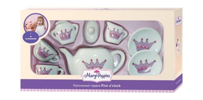 Ролевые игры Mary Poppins Набор фарфоровой посуды Корона (9 предметов) набор посуды mary poppins корона 13 предметов фарфоровая 453013