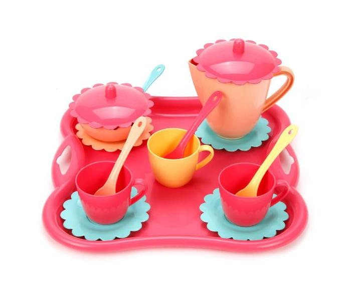 Ролевые игры Mary Poppins Чайный набор с подносом Карамель (16 предметов) mary poppins посуда mary poppins чайный сервиз бабочка 16 предметов