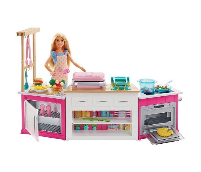 Купить Куклы и одежда для кукол, Barbie Игровой набор Супер кухня с куклой