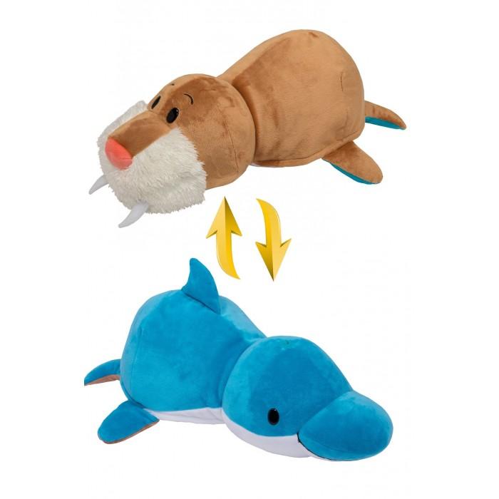 Купить Мягкие игрушки, Мягкая игрушка 1 Toy Вывернушка 2в1 Дельфин-Морж 40 см