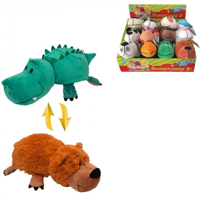 Мягкие игрушки 1 Toy Аллигатор-Медвежонок Вывернушка ням-ням 20 см