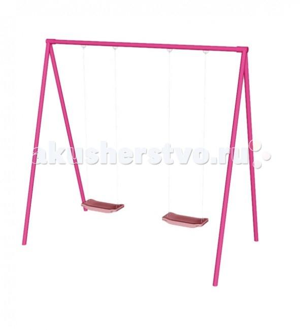 Качели СпортОкей двухместные розовые