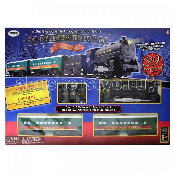 Фото - Железные дороги Eztec Железная дорога North Pole Express Trein Set (29 деталей) fenfa железная дорога 210 деталей 1608 2