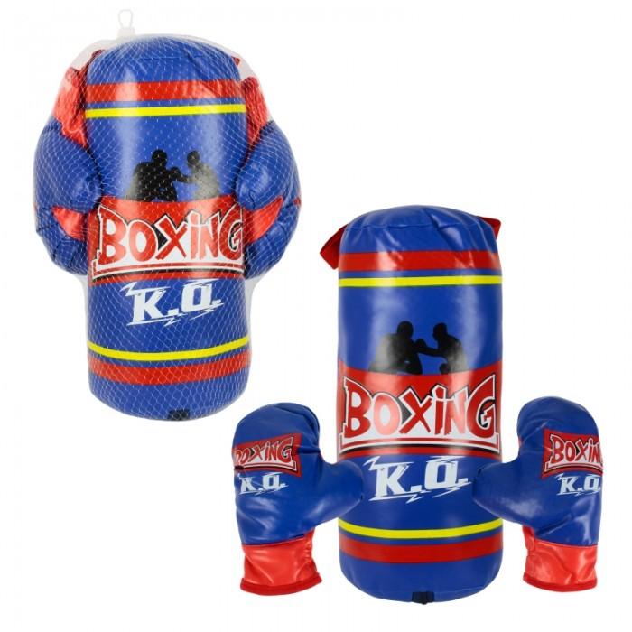 цена на Спортивный инвентарь 1 Toy Набор для бокса груша перчатки 21x15x38 см