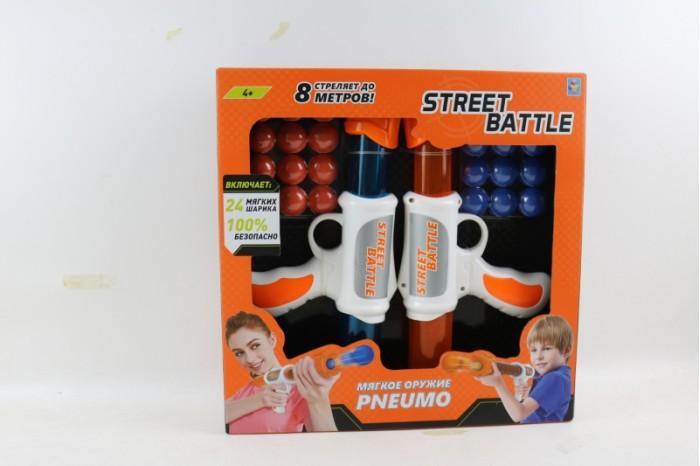 1 Toy Игрушечное оружие Street Battle с мягкими шариками 24 шт.