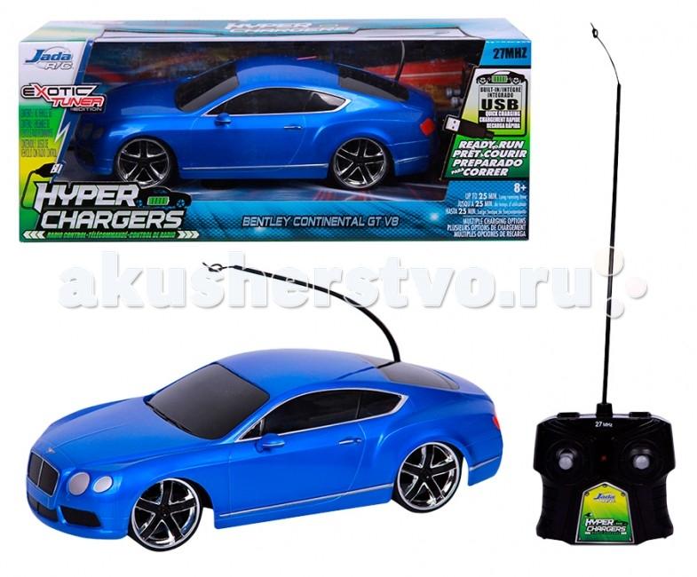 Jada Радиоуправляемая машинка Bentley Continental GT V8 1:16Радиоуправляемая машинка Bentley Continental GT V8 1:16Jada Радиоуправляемая машинка Bentley Continental GT V8 1:16  Особенности: Независимая передняя подвеска, задний привод.  В наборе: модель машинки, пульт р/у, комплект наклеек для тюнинга.  Игрушка для детей от 6 лет.  Масштаб модели 1:16.  Батарейки: для пульта 1 батарейка типа 9V, для машинки 3 батарейки типа АА. В комплект не входят.<br>