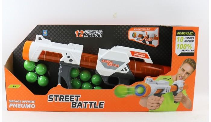 Картинка для 1 Toy Игрушечное оружие Street Battle с мягкими шариками Т13653