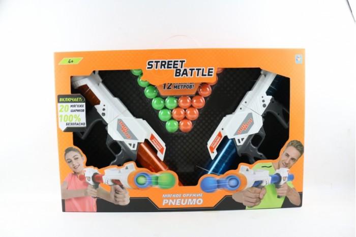 игрушечное оружие Игрушечное оружие 1 Toy Игрушечное оружие Street Battle с мягкими шариками 20 шт.