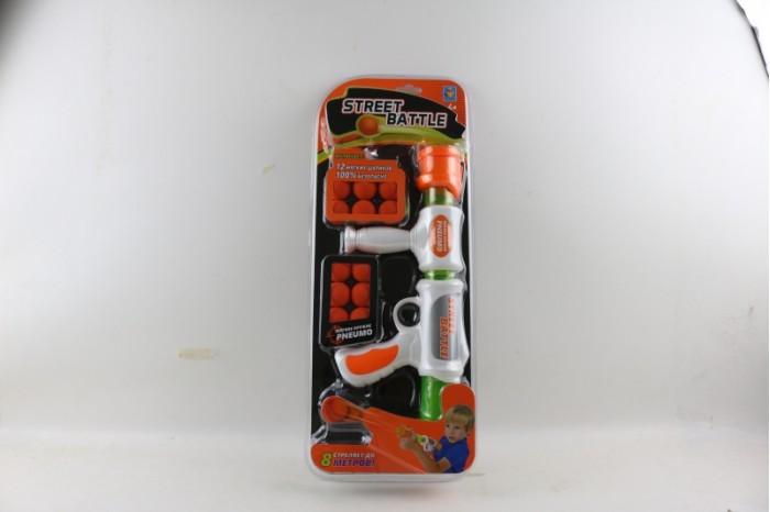 1 Toy Игрушечное оружие Street Battle с мягкими шариками 12 шт.