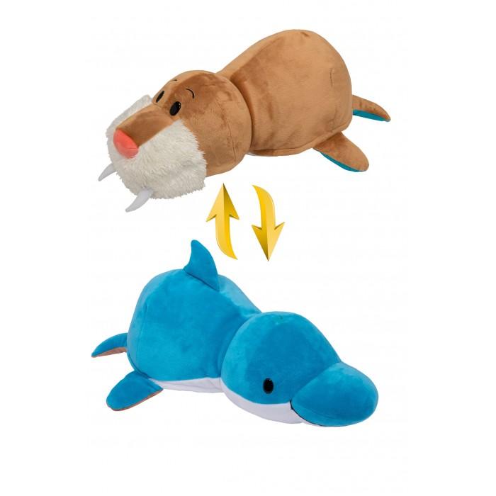 Мягкие игрушки 1 Toy Вывернушка Морж и Дельфин 20 см