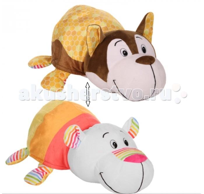 Мягкая игрушка 1 Toy Вывернушка Ням-ням Хаски и Полярный мишка 35 см