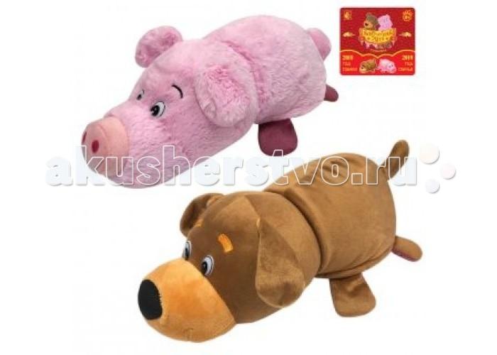 Купить Мягкие игрушки, Мягкая игрушка 1 Toy Вывернушка Собака и Свинья 35 см