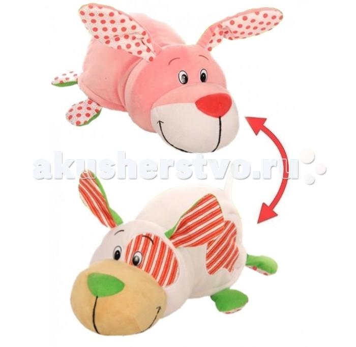 Купить Мягкие игрушки, Мягкая игрушка 1 Toy Вывернушка Ням-ням Щеночек и Зайчонок 40 см