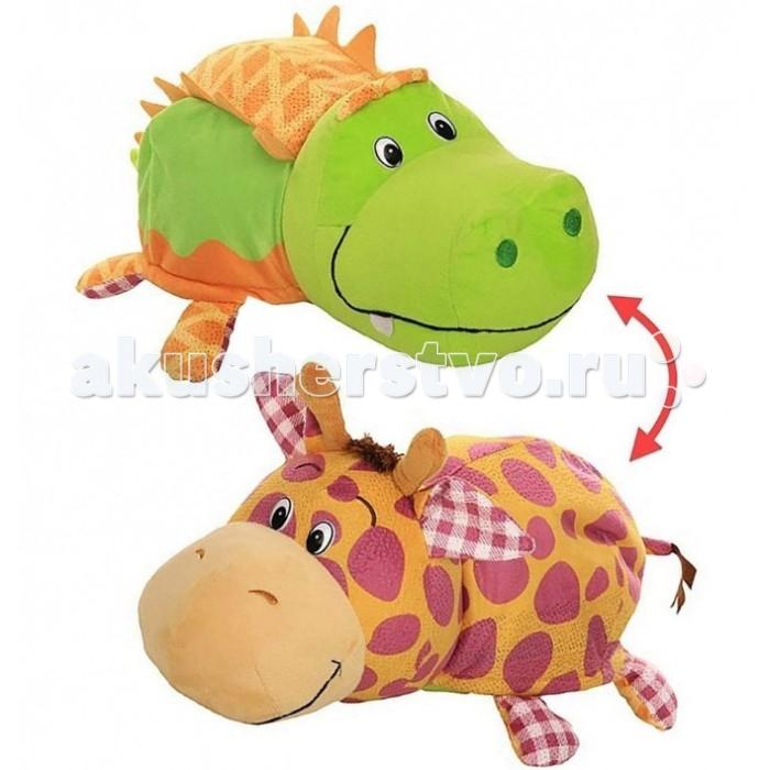 Мягкая игрушка 1 Toy Вывернушка Ням-ням Крокодильчик и Жираф 35 см