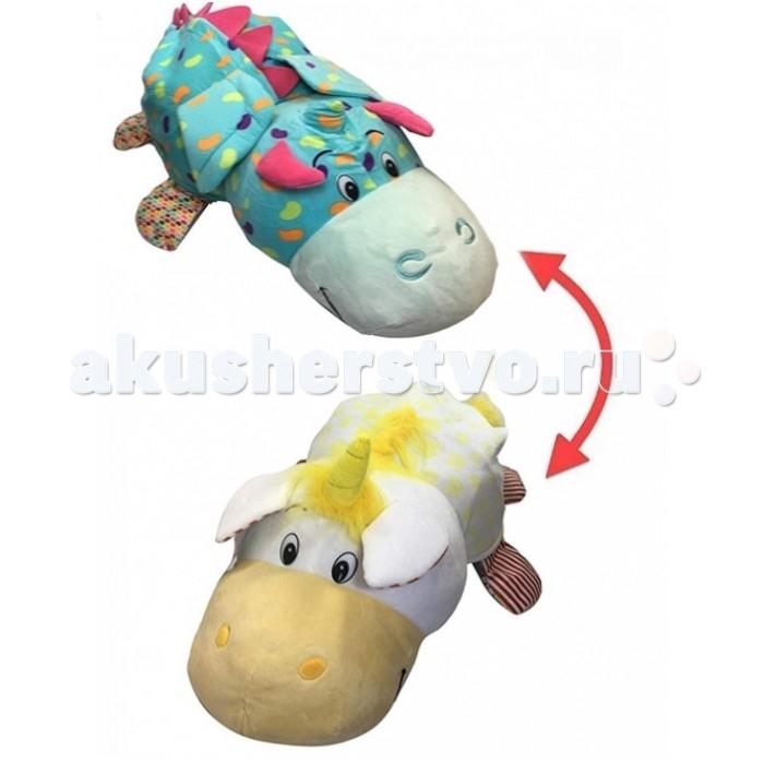 Мягкая игрушка 1 Toy Вывернушка Ням-ням Единорог и Дракончик 40 см