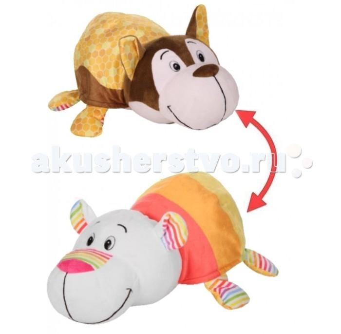 Купить Мягкие игрушки, Мягкая игрушка 1 Toy Вывернушка Ням-ням Хаски и Полярный мишка 40 см