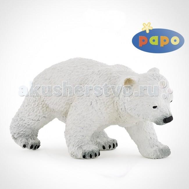 Игровые фигурки Papo Игровая реалистичная фигурка Идущий полярный медвежонок игровые фигурки papo игровая реалистичная фигурка цератозавр
