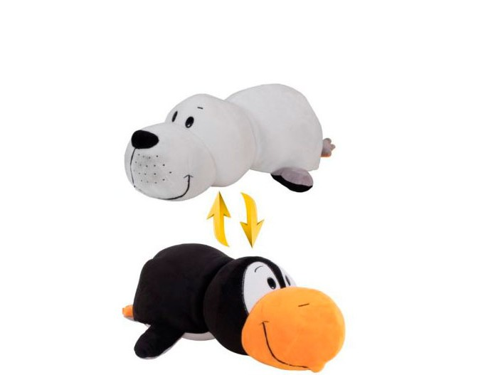 Мягкая игрушка 1 Toy Вывернушка Пингвин и Морской котик 20 см<