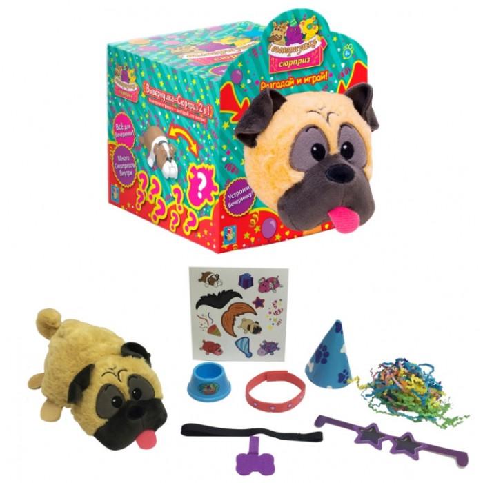 Мягкая игрушка 1 Toy Вывернушка-Сюрприз Мопс