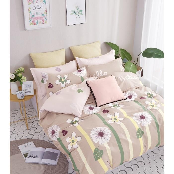 Купить Постельное белье 1.5-спальное, Постельное белье Dream Time Beige flowers (3 предмета)