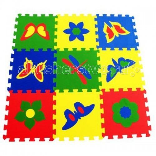 Купить Игровые коврики, Игровой коврик Экопромторг Бабочки 33х33 см