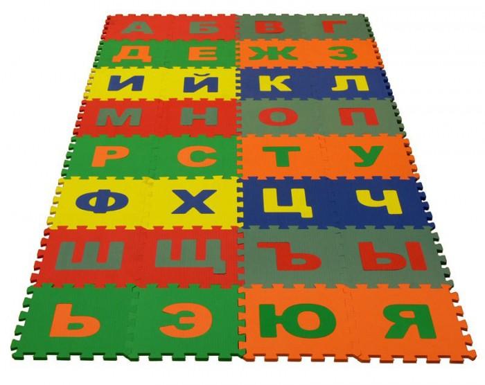 Игровые коврики Экопромторг Русский Алфавит 25х25 см пазлы бомик русский алфавит россыпью 63 буквы