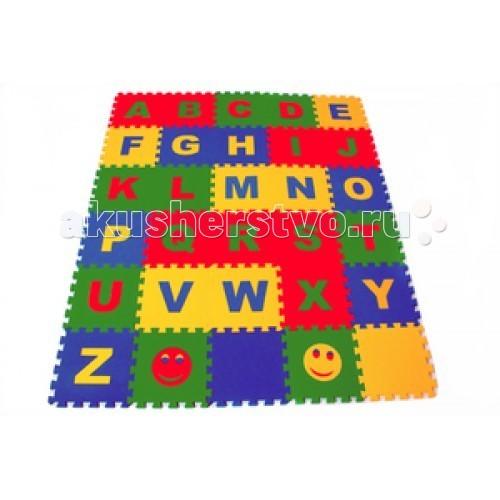 Игровые коврики Экопромторг Английский Алфавит 25х25 см игровые коврики funkids алфавит 1 kb 007r nt