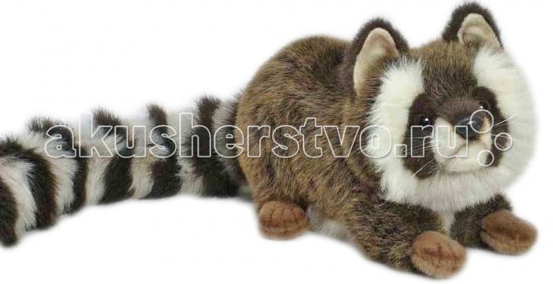 Мягкие игрушки Hansa Енот лежащий 35 см