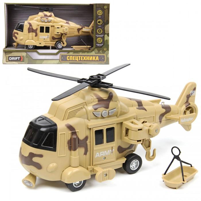 Вертолеты и самолеты Drift Вертолет Desert Military Helicopter 1:16 со светом звуком