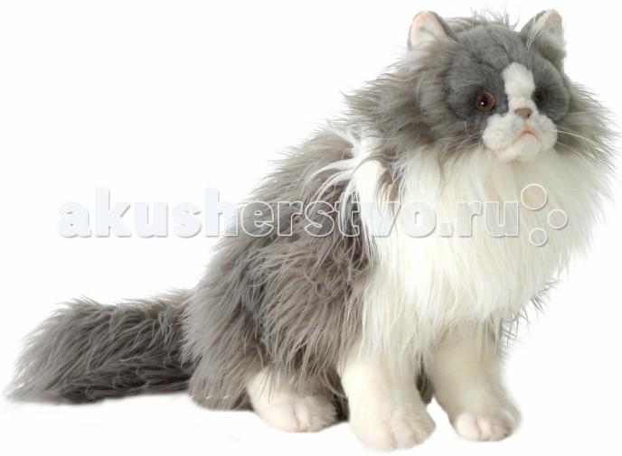 Картинка для Мягкая игрушка Hansa Персидский кот Табби серый с белым 38 см