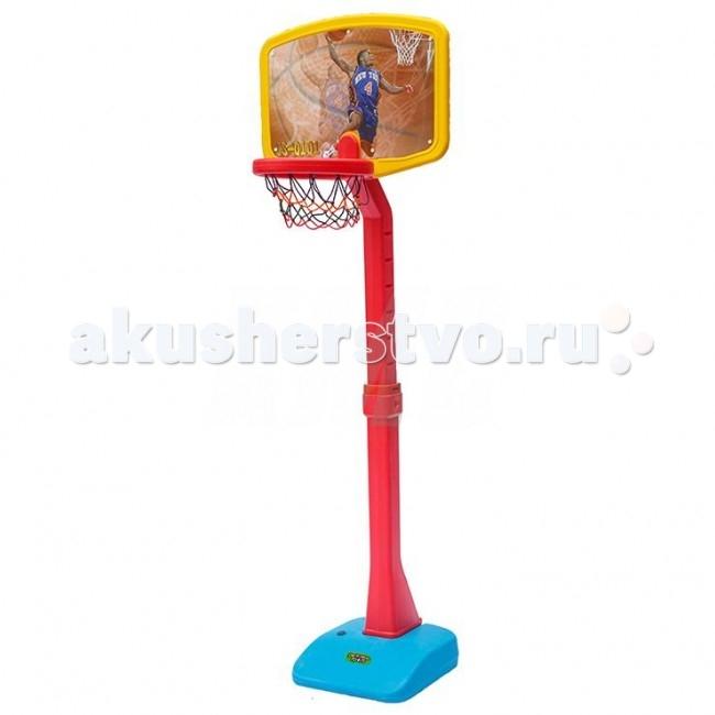Perfetto Sport Стойка баскетбольная детская №1Стойка баскетбольная детская №1Баскетбольный щит на устойчивой стойке с красочным изображением.  - идеален для игры в баскетбол на открытом воздухе - стойка регулируется по высоте - при сборке следуйте прилагаемой инструкции  Высота: min-1.64; max-2.22 м  Вся продукция фирмы изготовлена из высококачественного пластика, предусматривающего его использование на долгий срок.<br>