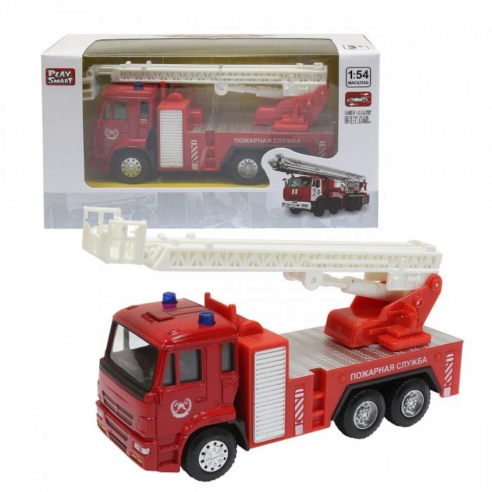 Машины Play Smart Инерционная металлическая Пожарная машина 1:54 play smart машинка инерционная такси