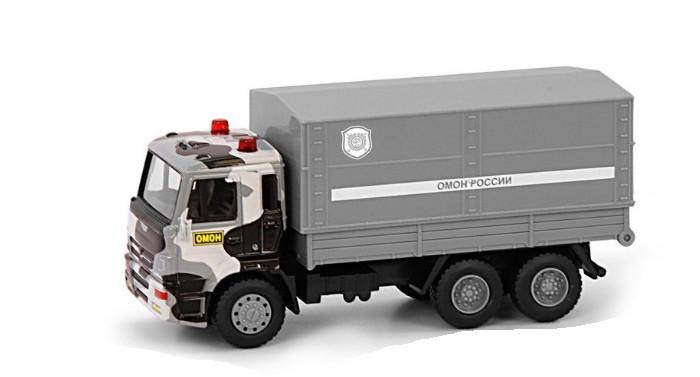 Машины Play Smart Инерционный металлический грузовик Омон 1:54 машины play smart инерционный грузовик продукты