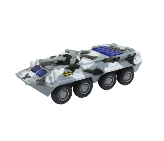 Машины Play Smart Инерционный металлический Танк со светом и звуком