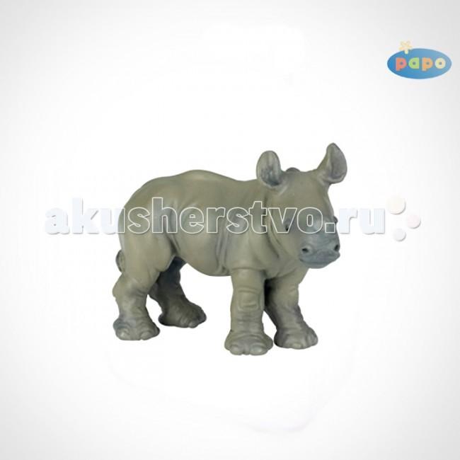 Игровые фигурки Papo Игровая реалистичная фигурка Детёныш носорога