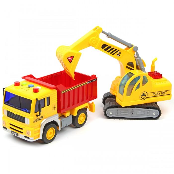 Drift Спецтехника Construction Truck 1:20 со звуком и светом фрикционный