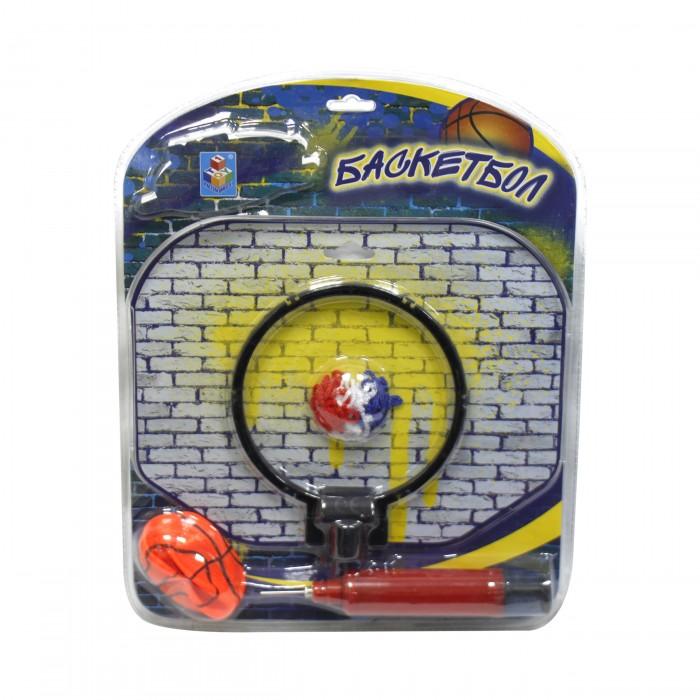 цена на Спортивный инвентарь 1 Toy Баскетбольный щит с мячом и насосом