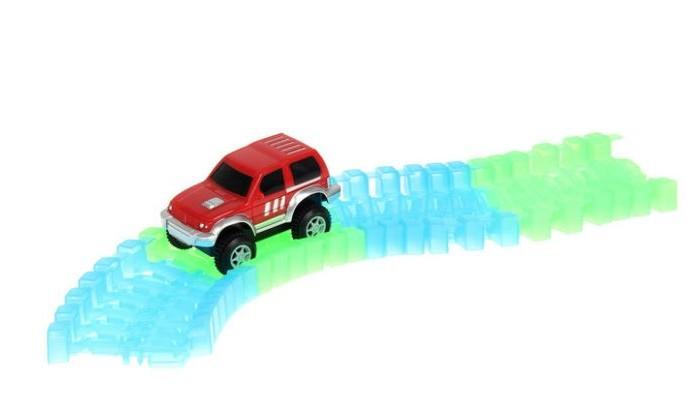 Машины 1 Toy Гибкий трек светящийся Большое путешествие (25 деталей)