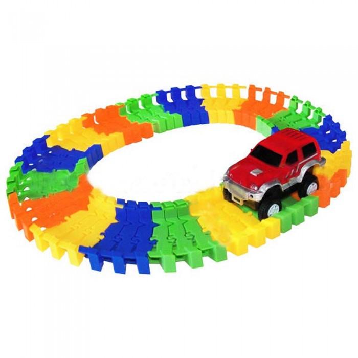 Машины 1 Toy Гибкий трек Большое путешествие (57 деталей)