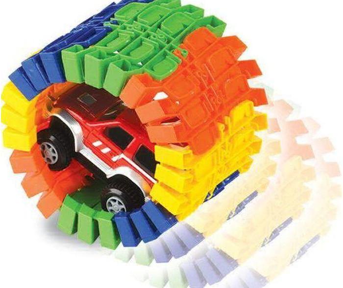 Машины 1 Toy Гибкий трек Большое путешествие (25 деталей)