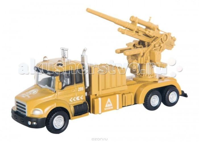 Машины Autogrand Автомобиль Military Gun Truck с орудием 1:48