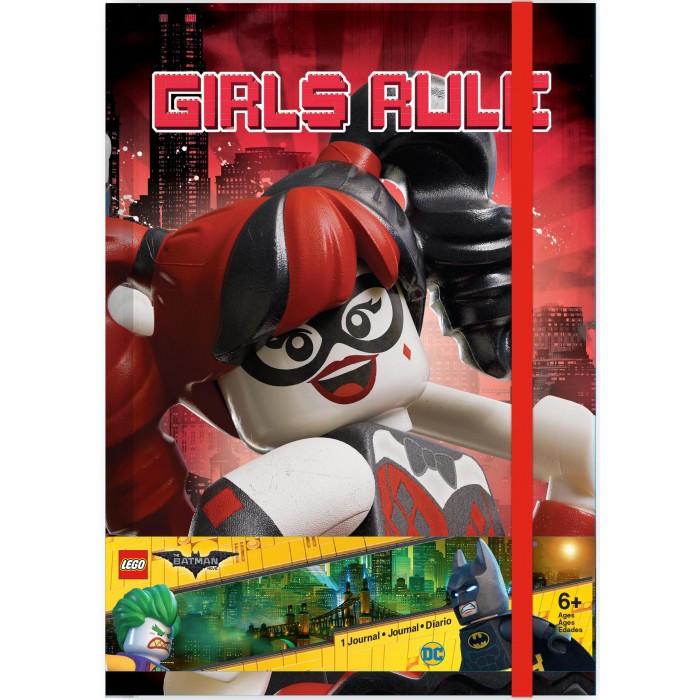 Канцелярия Lego Книга для записей (96 листов, линейка) с резинкой Batman Movie канцелярия lego набор закладок для книг batman movie batman batgirl harley quinn 3 шт