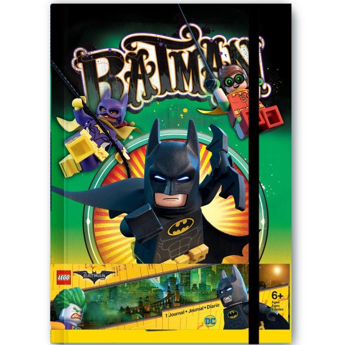 Канцелярия Lego Книга для записей (96 листов) с резинкой Batman Movie канцелярия lego набор закладок для книг batman movie batman batgirl harley quinn 3 шт