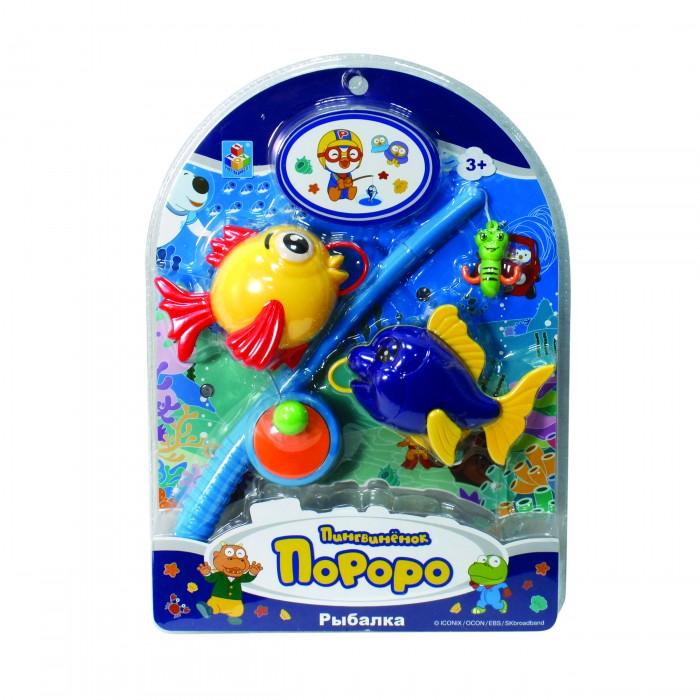 Игрушки для ванны 1 Toy Набор рыбалка Пингвиненок Пороро