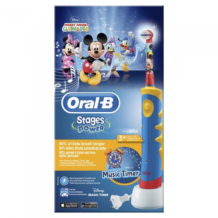 Купить Гигиена полости рта, Oral-B Детская электрическая зубная щётка Stages Power Микки 3+