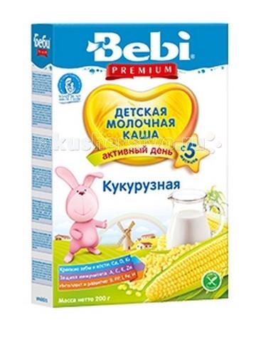 Каши Bebi Молочная каша Premium Кукурузная с 5 мес. 200 г каша молочная bebi premium сладкие сны 3 злака с яблоком и ромашкой с 6 мес 200 г